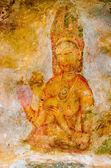 Ancient frescos on mount Sigiriya, Sri Lanka ( Ceylon ). — Stockfoto