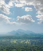 View from mount Sigiriya into the valley, Sri Lanka (Ceylon). — Stock Photo