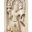 Nagaraja - guard the gates of the shrine - Stock Photo