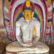 Interior of royal rock temple in Dambulla - Stock Photo
