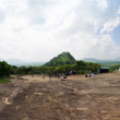 Panorama close cave temple in Dambulla - Stock Photo
