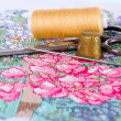 The art of embroidery — Stock Photo #9206660