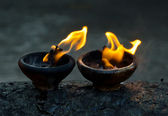 Fire amulet — Stock Photo