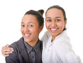Carelessness. two beautiful women looking at the camera — Stock Photo