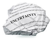 End the uncertainty — Stock Photo