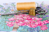 The art of embroidery — Stock Photo