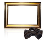 Decorative frame for a photo and bow-tie — Stock Photo