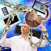 Seguridad social internet — Foto de Stock