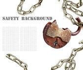 Sfondo di sicurezza — Foto Stock