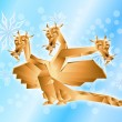 Stock Photo: Fantastic dragon symbol 2012 new years