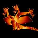 Fantastic dragon a symbol 2012 new years — Stock Photo
