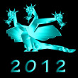Fantastic dragon a symbol 2012 new years — Stock Photo #8024953