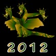 Fantastic dragon a symbol 2012 new years — Stock Photo #8024970