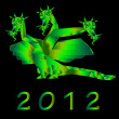 Fantastic dragon a symbol 2012 new years — Stock Photo #8025021