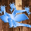 Fantastic dragon a symbol 2012 new years — Stock Photo