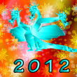 Stock Photo: Fantastic dragon-symbol 2012 New Years.