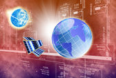 Designing innovative space internet technology — Stock Photo