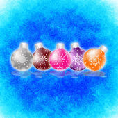New Year's and Christmas abstract decorative elements. — Foto de Stock