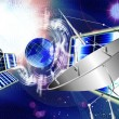 Stock Photo: Satellite communication systems