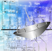 Satellite communication systems — Stock Photo