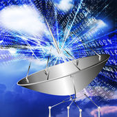 Satellite communication systems — Stock Photo