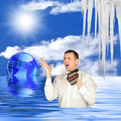 Global warming — 图库照片