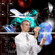Royalty-Free Stock Photo: Designing cosmic technology