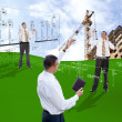 Stock Photo: Engineering construction designing