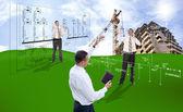 Inżynieria projektowanie budowlane — Zdjęcie stockowe