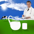 A healthy dairy food . The concept — Stock Photo #9393256