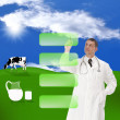 A healthy dairy food .  The concept — Stock Photo