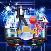 Computer safety — Stock Photo