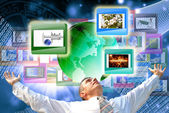 The technology Internet — Стоковое фото
