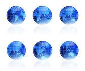 Globe planet blue — Stock Vector