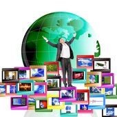 The concept the Internet — Stock Photo