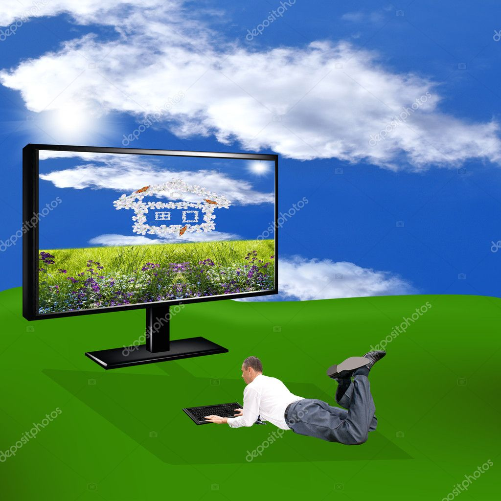 Innovative computer technologies. The concept the Internet — Stock Photo #9591582