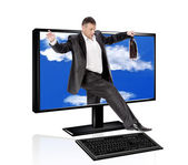 Innovative computers technology — Stock Photo