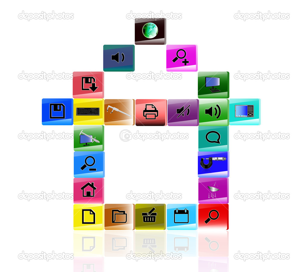 The internet icons — Stock Photo #9638377