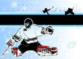 Passion of ice hockey — Stock Vector