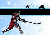 Passion of ice hockey 2 — Stock Vector
