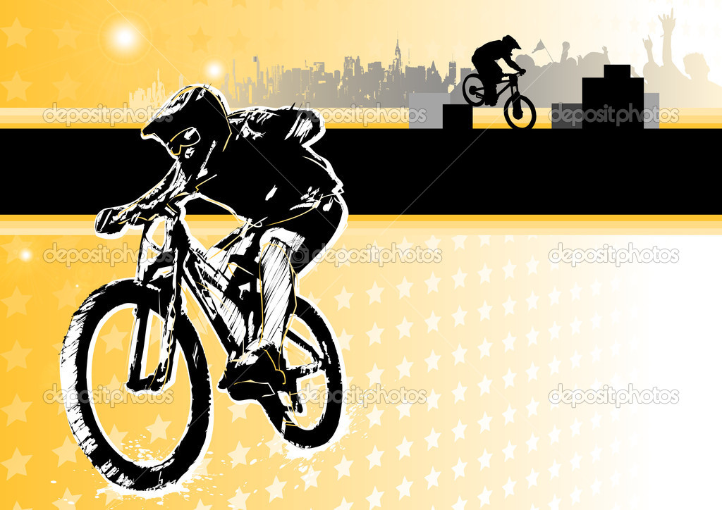 Illustration of the biker — Stock Vector #8830671