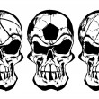 Stock Vector: Ball skulls