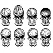 Royalty-Free Stock Vector Image: Ball skulls 2