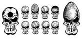 Ball skulls 2 — Stock Vector