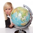 Woman planning her dream holiday - Stockfoto