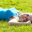 Happy woman relaxing in the sun — Stock Photo #10630753