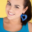 Sexy Woman With Heart Earring — Stock Photo #7983337