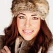 Stunning Redhead In Winter Fur Hat — Stock Photo #8291275