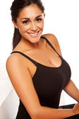 Beautiful Busty Happy Woman — Stock Photo