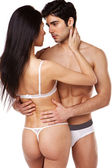 Sexy Couple In Underwear — Stock Photo